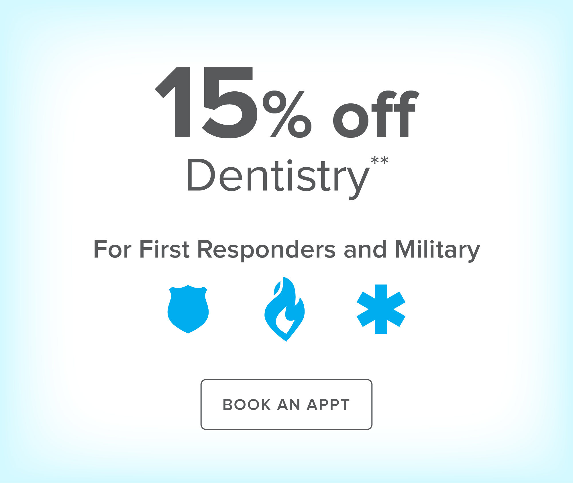 Baytown Modern Dentistry - 15% off Dentistry for First Responders and Military