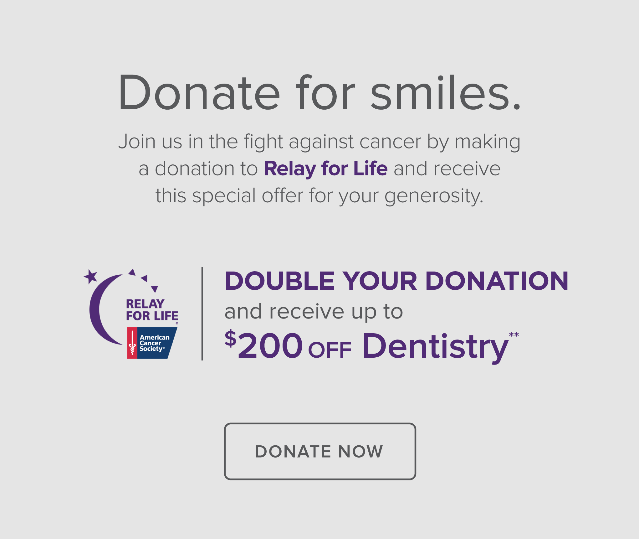 Baytown Modern Dentistry - Donate Relay for Life